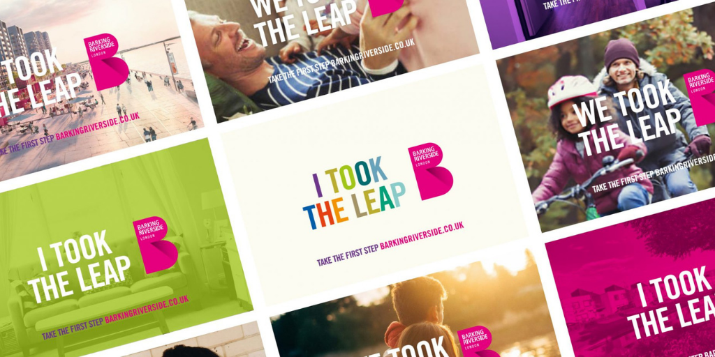 personas inspired the colourful creative at barking riverside as seen by the branding concepts